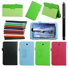 Folio Slim Fit PU Leather Case Cover for DELL Venue 8 Android Tablet New