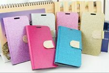 E032 Luxury Bling Diamond Crystal Flip Leather Card Case for Samsung GalaxyS5 UK