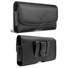 Leather Horizontal Sideways Belt Clip Case Pouch Holster for HTC Cell Phones NEW