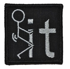 "F**k It - 2""x2"" Military Morale Funny Velcro Patch - Multiple Colors"