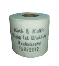 Personalised Toilet Roll ~ First Anniversary Gift, Embroidered Toilet Paper