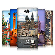 HEAD CASE DESIGNS CITY SQUARES HARD BACK CASE COVER FOR SONY XPERIA C C2305