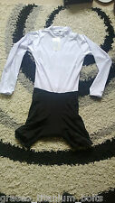 White Cycling Skinsuit - Long Sleeved - No Logos - XS to XL