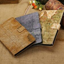 Wallet Card Stand Map PU Leather Flip Case Cover For 2013 Google Nexus 7 2nd FHD