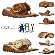 LADIES WOMENS FLY LONDON TRIM WEDGE FLIP FLOP CLEATED SOLE SANDAL SHOE SIZE