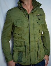 Superdry - FLAG JACKET - Men's Military Style Jacket - NEW - Army Green
