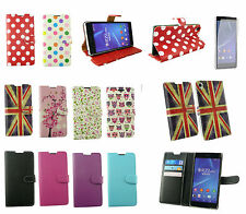 Flip Wallet Case Cover for Various Sony Xperia Models & Screen Protector