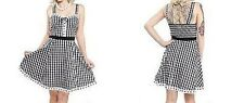Sourpuss Gingham Picnic Retro 50S Punk Goth Rockabilly Pinup Tattoo Dress S-Xxl