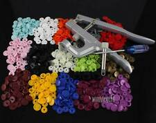 150 SETS 15 MIXED COLORS RESIN SNAPS BUTTONS 1 SET KAM SNAP PLIER FOR CHOOSE