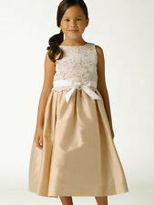 Us Angels Lace Champagne Flower Girl Special Occasion Dress Size 5