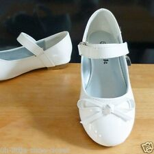 White Pageant Crowning Flower Girl Dress Dance Shoes Baby Toddler Size 9,10