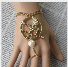 Hot The Hunger Games Mockingjay Fashion Retro Style Conjoined Rings Bracelets