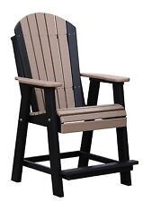 Poly Furniture Wood ADIRONDACK BALCONY CHAIR - *MULTIPLE COLORS* AMISH MADE