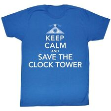 Back To The Future Keep Calm And Save The Tower Licensed Adult Shirt S-Xxl