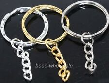 10pcs silver/golden plated key ring chain findings 30mm