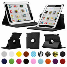 "PU Leather 360 Rotating Case/Cover/Wallet For Nook HD 9"" -Multiple Colours"
