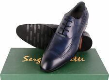 Sergio Duletti Real Italian Leather Lace up Dress Shoes Pointed Toe in 22R2 Blue