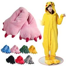 Adult Children Animal Shoes Slipper Paw Claw Kigurumi Pajama Onesie Cosplay Pink