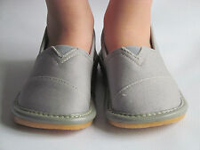 Toddler Shoes - Squeaky Shoes - Boys Gray Toms Style Shoes, Up to Size 7
