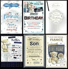 FABULOUS  LARGE BIRTHDAY CARD With 8 PAGE INSERT ~ CHOICE OF DESIGN AND TITLE