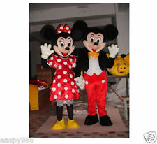 Mickey and Minnie Mouse Mascot Costume Fancy Dress Halloween