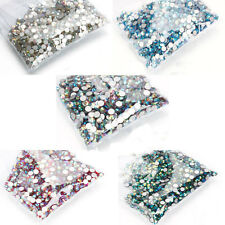 10Gross 1440Pcs Top Quality Flat Back Crystal Rhinestones Flatback AB Color