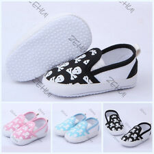 Kids Toddler Baby Boys Girls Skull Animal Printed Soft Bottom Shoes Prewalker