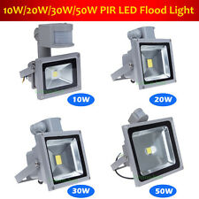 Outdoor Security LED Flood Light With PIR Motion Sensor 10W 20W 30W 50W Waterpro