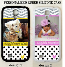 PERSONALIZED CUSTOM PHOTO POLKA DOTS CHEVRON CASE For Samsung Galaxy S5 4 Note 4
