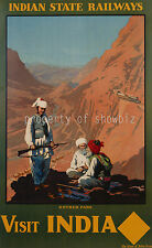 vintage Indian State Railways ad print poster, 4 sizes available-Train 21