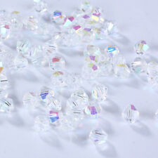 New DIY Jewelry 3mm Glass Crystal AB bead #5301 Bicone Charm beads 100-1000pcs