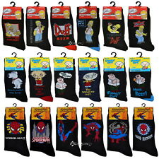 6 Pairs Mens Official Licensed Character Designer Socks Shoe Size 6-11 Dad Gift