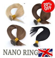"★1 GRAM 20""★Nano Ring Tip 100% Human Hair Extensions★Fast Delivery"