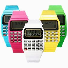 Fashion Children Silicone Date Multi-Purpose Electronic Wrist Calculator Watch