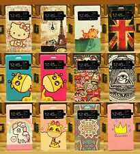 Luxury Window View Cartoon Wallet Flip Case Cover Stand For Nokia Lumia 925