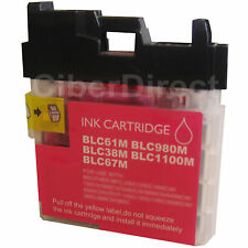 1 CiberDirect MAGENTA/Red Compatible LC980 M Ink Cartridge for Brother Printers.