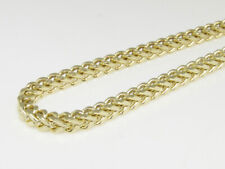 1/10th 10K Yellow Gold 3.0 MM Franco Box Cuban Chain Necklace 30-40 Inches