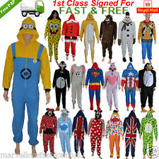 Mens Ladies Womens Animals Character Onesie Sleepsuit Pyjamas Romper All In One