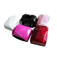36W CCFL LED Nail Dryer Diamond Shaped Curing Machine for UV Gel Nail Art Lamp
