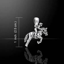 Horse with Jockey Pony / Horse Sterling Silver Pendant