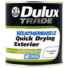 Dulux Trade Weathershield QuickDry Gloss / Undercoat / Satin ALL TYPES + COLOURS