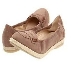 Amalfi by Rangoni Women's Cielo Cacao Suede Espadrille Flat