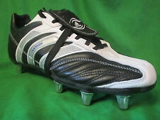 MENS BLACK LEATHER ADIDAS FLANKER iii RUGBY LEAGUE BOOTS BOOTS SIZE UK 7.5  US 8