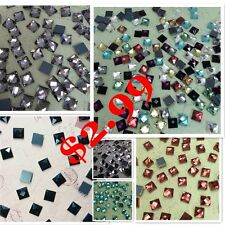 6*6mm Square Color Special Shape Flatback Rhinestones Crystal Glass Strass 50ps