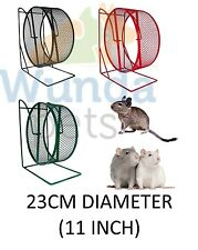 "TRIXIE 28CM 11"" ALL METAL RAT DEGU FREE STANDING CAGE WHEEL 3 COLOURS 61003 NEW"