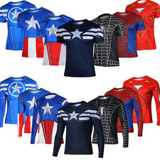 Men's Marvel Heroes Costume T-shirt Superhero Long Sleeve & Short Sleeve Tee Top