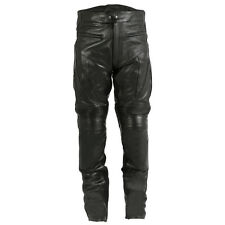 CE Armoured Motorcycle Bike Cruising Cowhide Leather Quality Jeans / Trousers