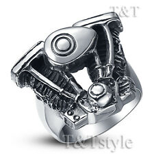 High Quality TT 316L Stainless Steel Motor Engine Ring Size 9-13 (RZ18)