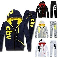Mens Sports Track Suit Athletic Apparel Cotton Soft Thin Sweat Hoodies New M~XXL