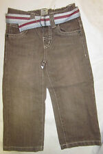 Boys jeans with belt ex store M * S 12 18 months 2 3 4 5 6 years brown blue